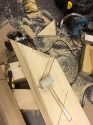 Construction d'un escalier en bois a Uccle